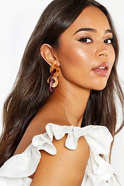 Resin Linked Contrast Earrings