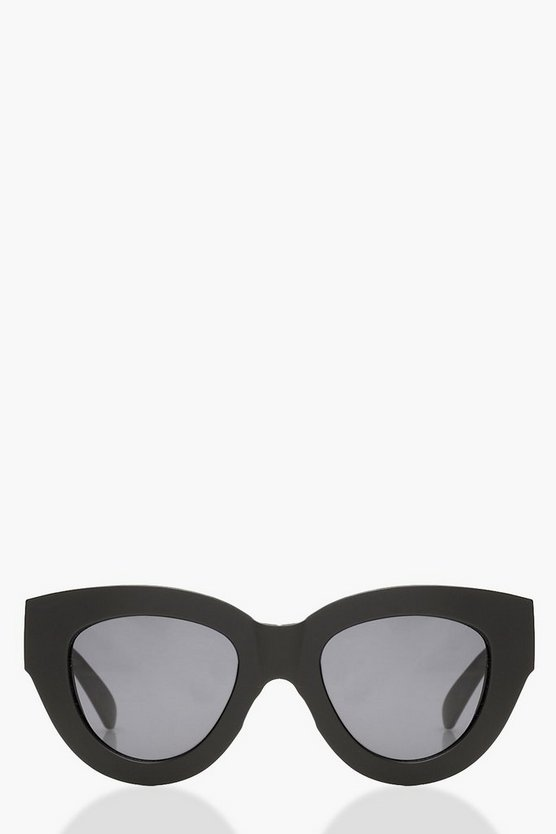 Skinny Rectangle Cat Eye Sunglasses