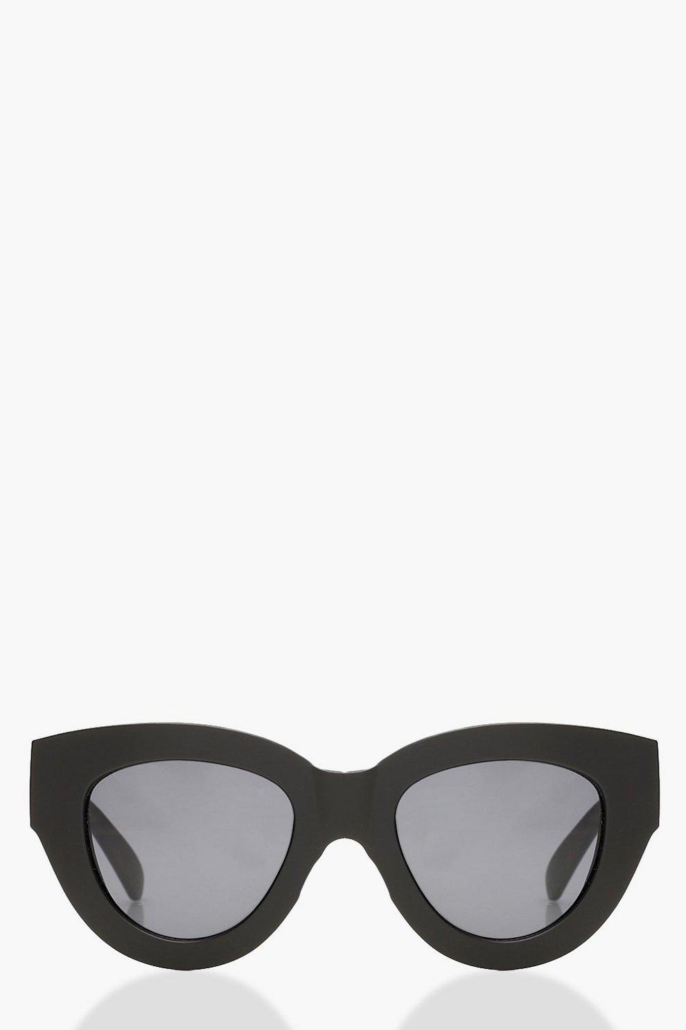 da808e64abd8 Skinny Rectangle Cat Eye Sunglasses | Boohoo