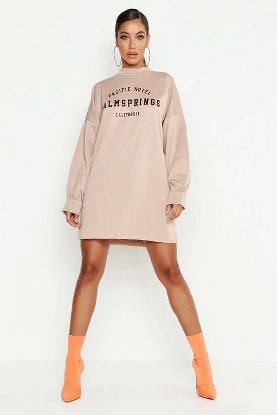 Palm Springs Funnel Neck Sweat Dress