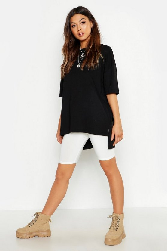 Womens Black Oversized Cotton T-Shirt