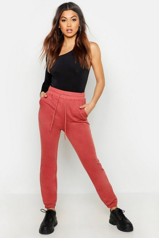Womens Dusty rose Basic Cuff Jogger