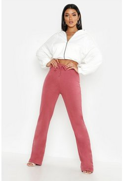 Womens Terracotta Wide Leg Jogger
