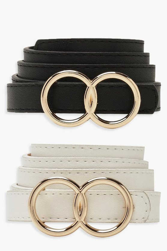 Double Ring Skinny 2 Pk Belt