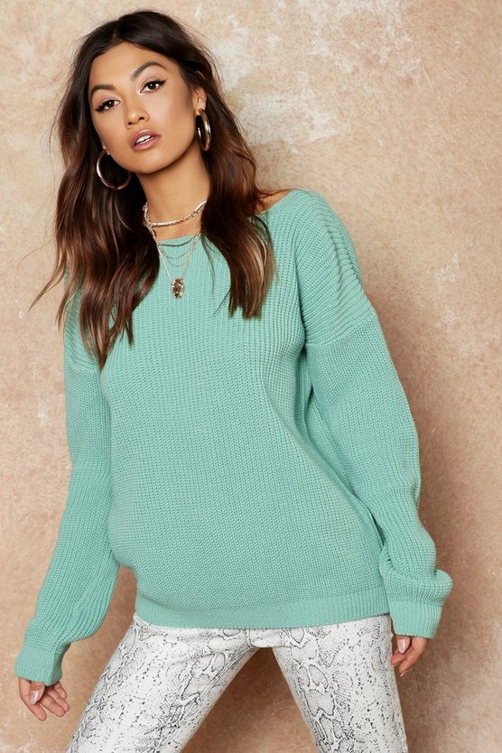 V-Back Oversized Jumper
