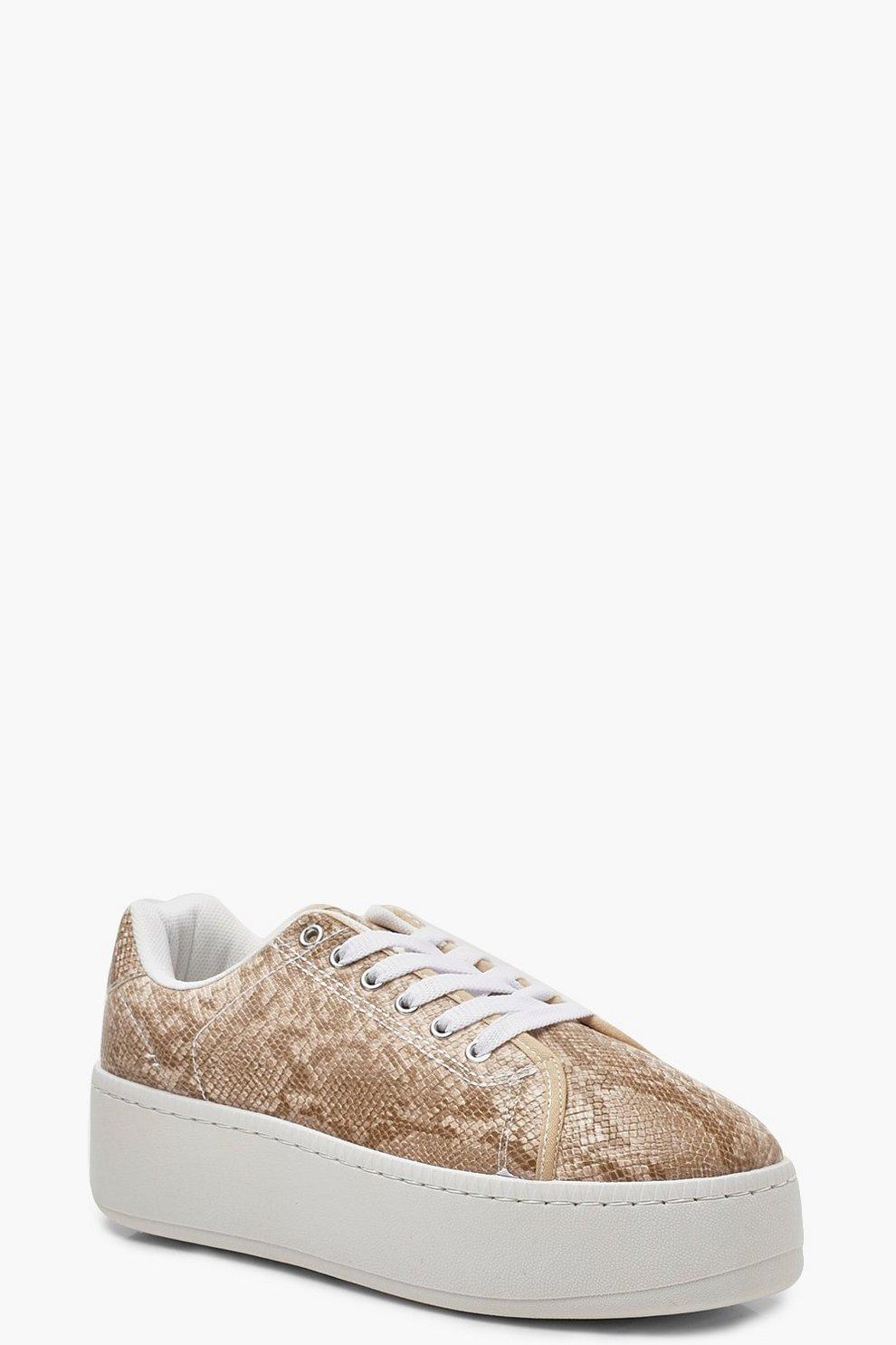 377c6c09869aaa Plateau-Sneaker mit Schlangenmuster