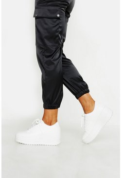 Dam White Snake Effect High Platform Trainers