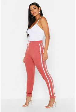 Womens Rose Side Stripe Sweat Jogger