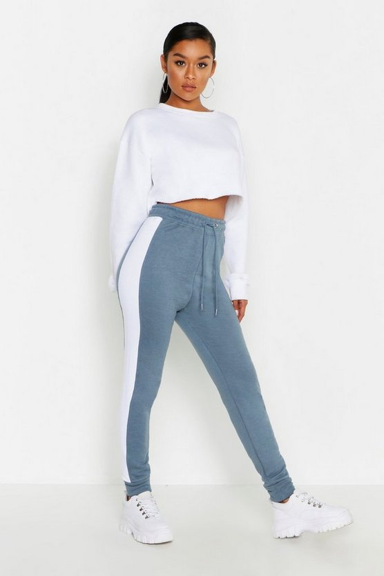 Womens Petrol Side Stripe Sweat Jogger