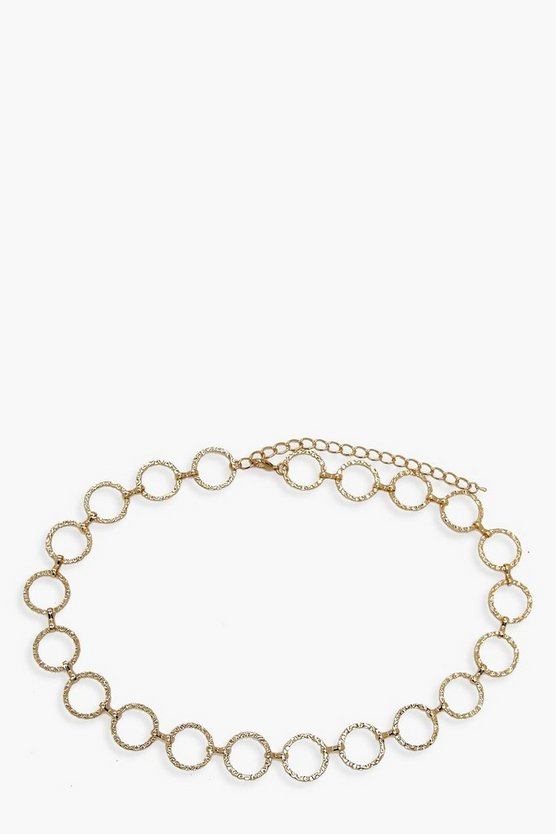 Hammered Ring Chain Belt