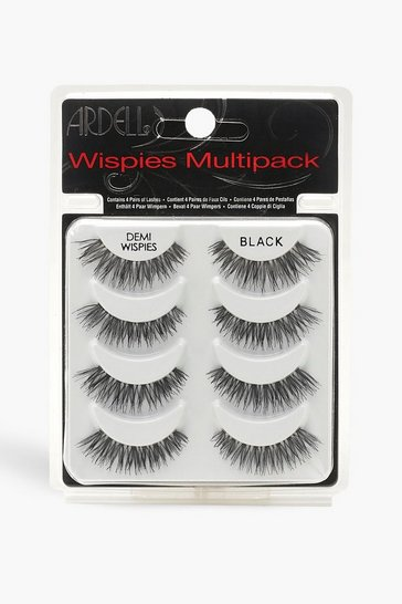 Womens Black Ardell Multipack Demi Wispies x4