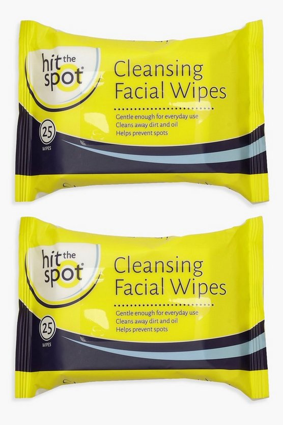 Womens Clear Tea Tree Cleansing Face Wipes