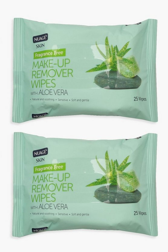 Womens Clear Make Up Remover Wipes With Aloe Vera