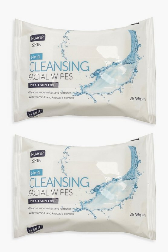Womens Clear 3 In 1 Cleansing Facial Wipes
