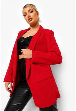 Womens Dark red Tailored Blazer