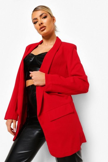 Dark red Tailored Blazer