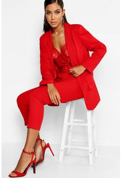 Red Tailored Blazer