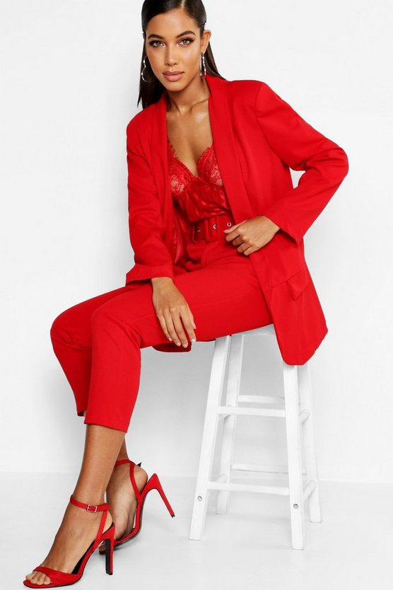 Womens Red Tailored Blazer