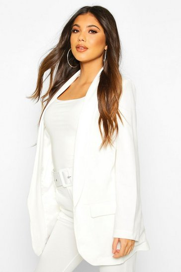 Womens White Tailored Blazer
