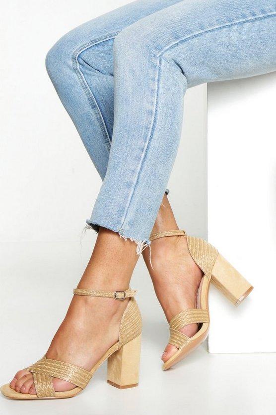 raffia-block-heel-sandals by boohoo