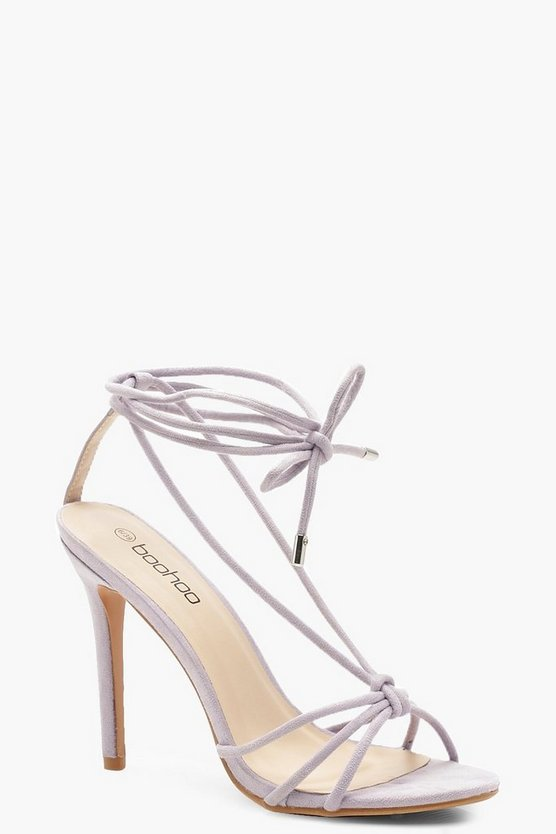 Womens Lilac Knot Front Slingback Heels