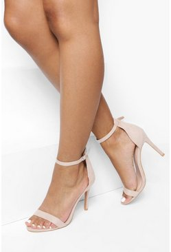 Womens Blush Basic 2 Part Heels