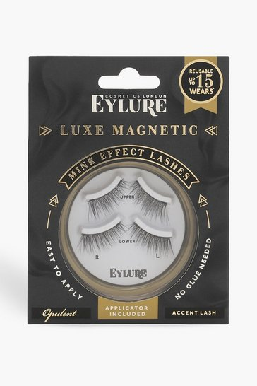 Womens Black Eylure Luxe Magnetic Accent Lashes - Opulent