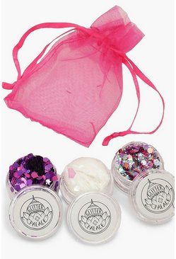 3er-Pack Glitter Set - Disco Queen, Mehrfarbig, Damen
