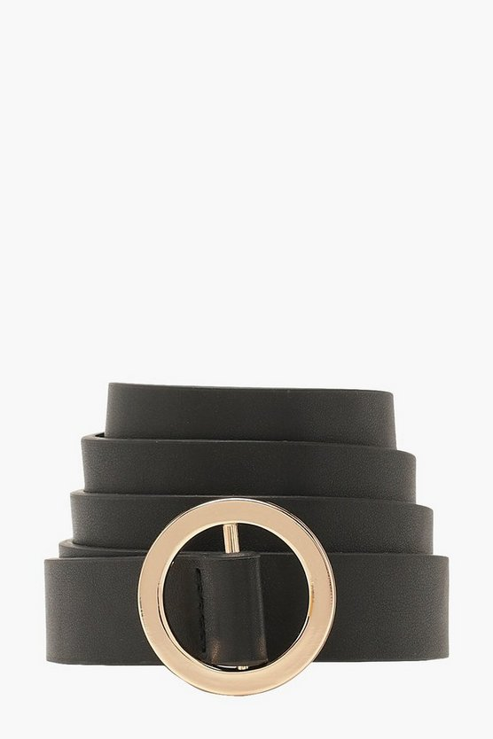 Flat Circle Buckle Boyfriend Belt