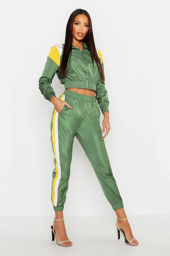 Colour Block Shell Tracksuit Jogger