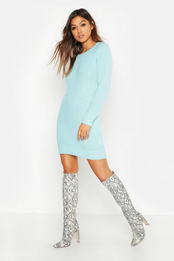 Pastel Soft Knit Jumper Dress