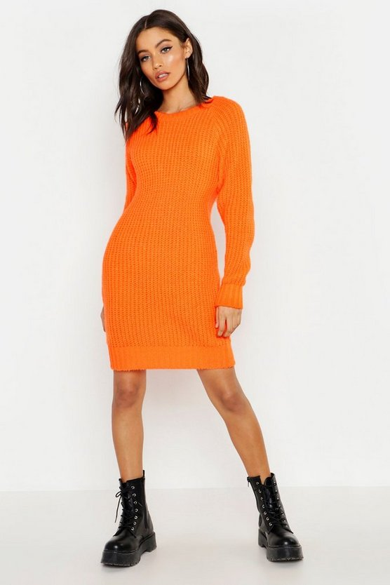 Soft Knit Neon Jumper Dress