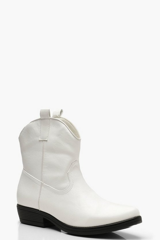 White Western Style Boots