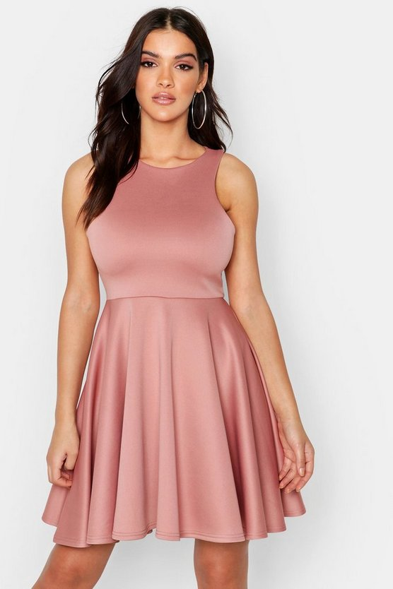 Scuba Full Skirt Skater Dress
