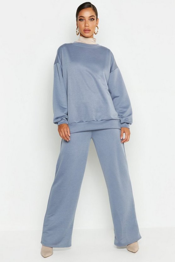Crew Neck Sweat And Wide Leg Tracksuit
