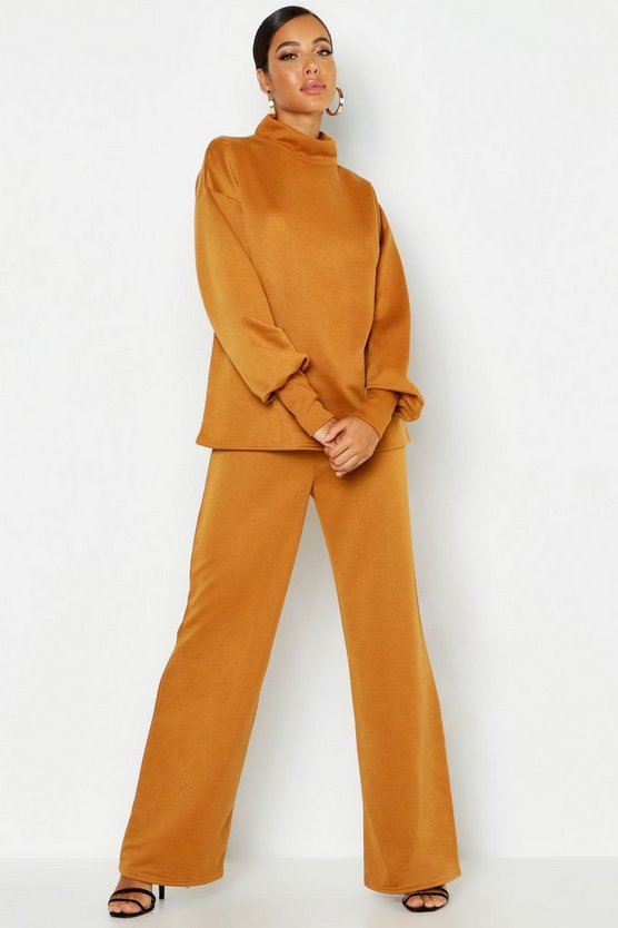 Oversized Sweat & Wide Leg Pants Tracksuit