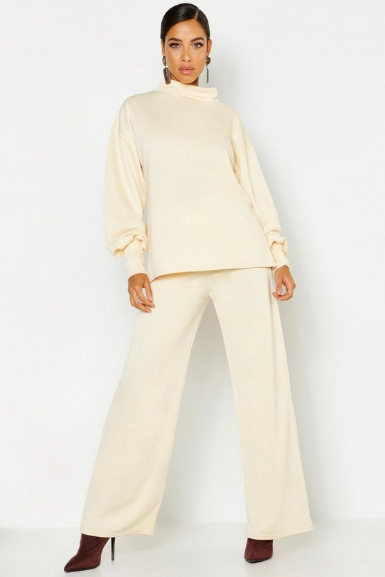 Oversized Sweat & Wide Leg Trouser Tracksuit