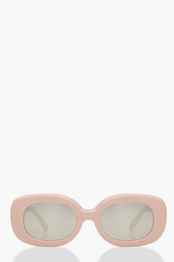 Womens Pink Pink Skinny Square Sunglasses
