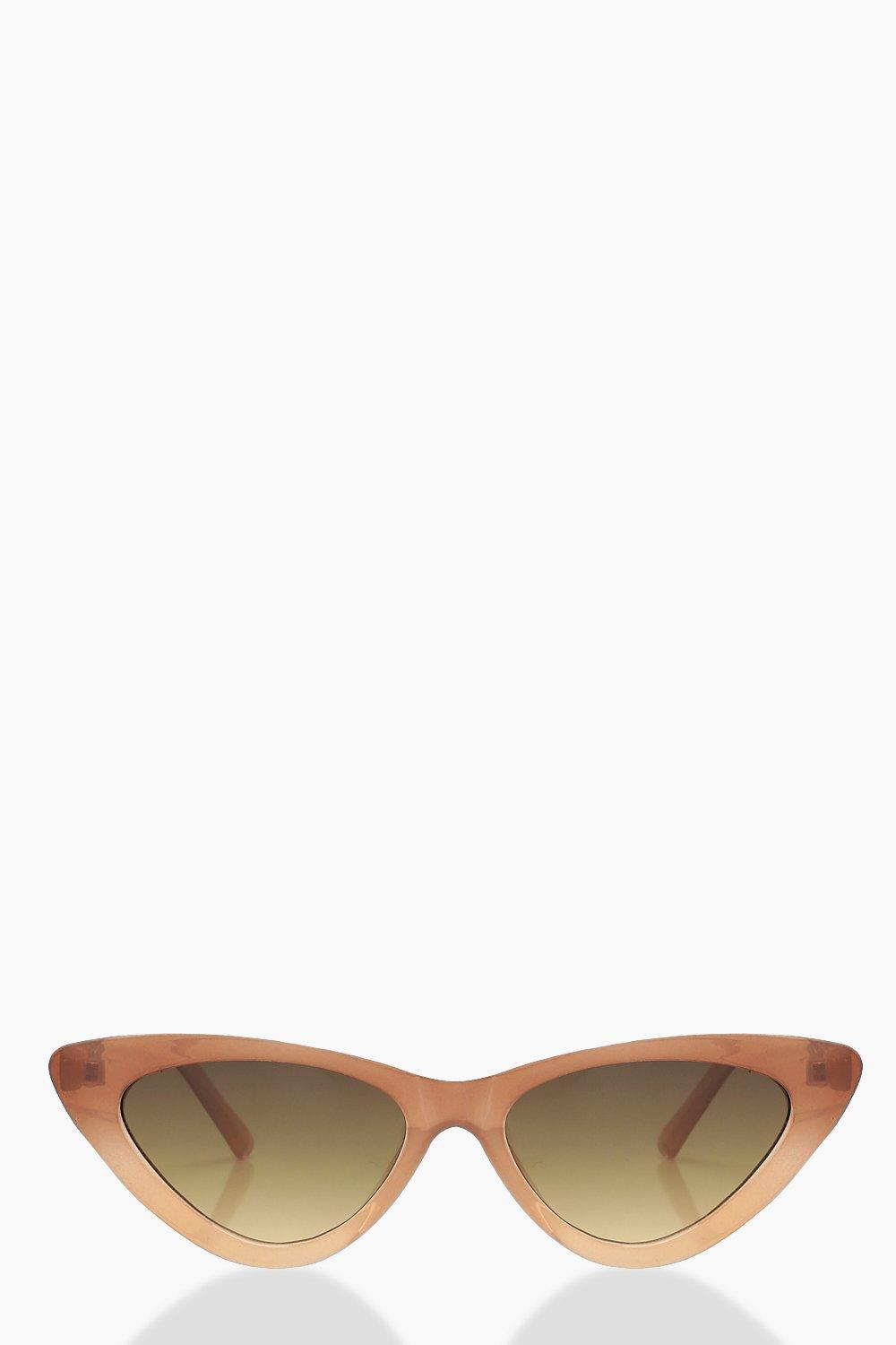9821380dd9 Ombre Frame Skinny Cat Eye Sunglasses. Hover to zoom