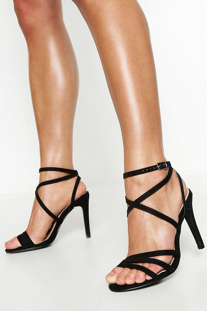 Extra Wide Fit Strappy Heel Sandals | boohoo