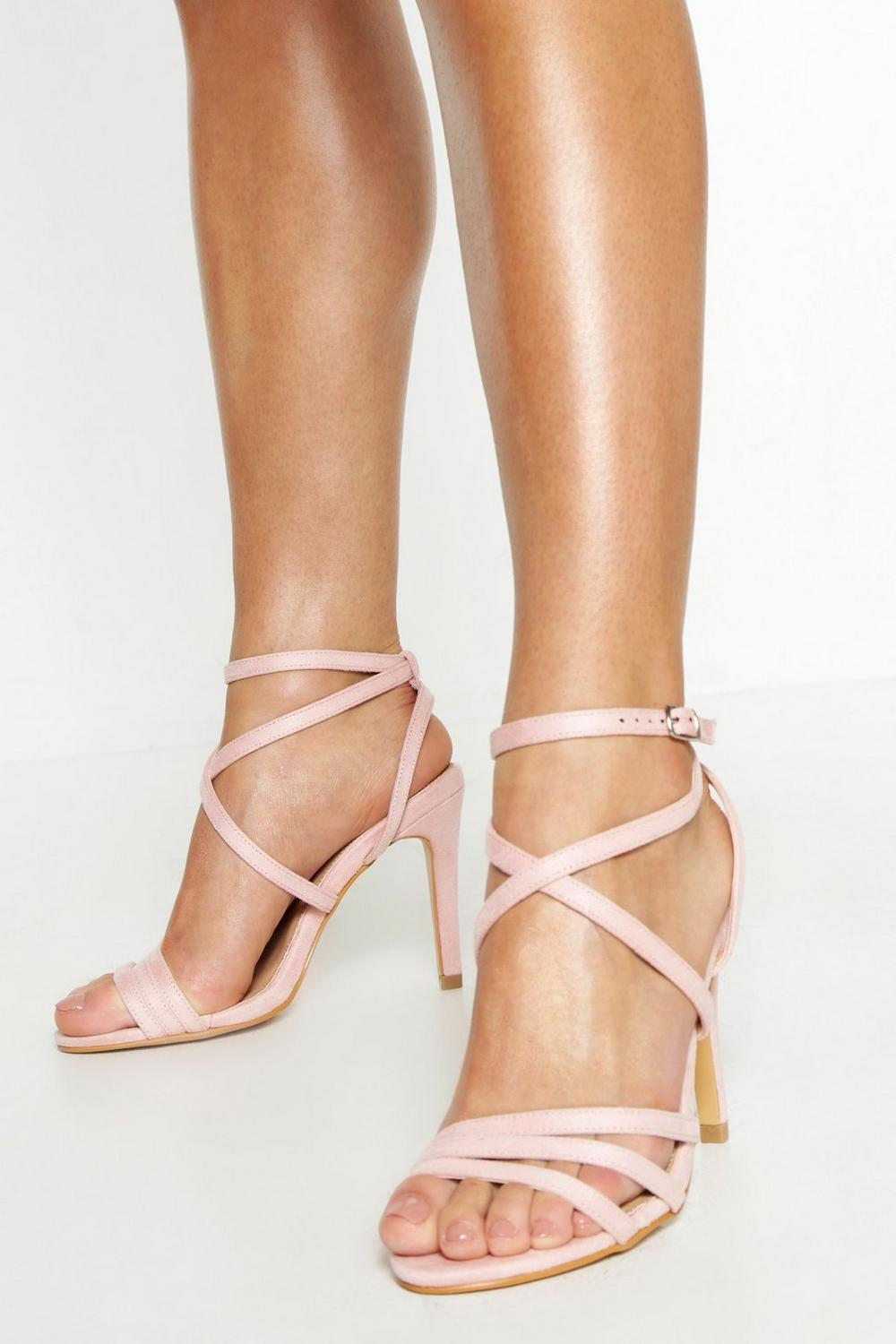 choose best outlet sale buying cheap Wide Fit Strappy Heel Sandals | Boohoo