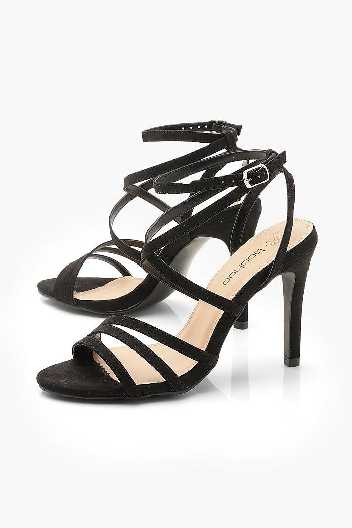 Wide Fit Strappy Heel Sandals | boohoo Australia