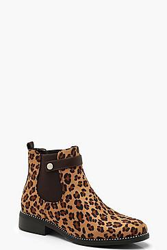 Leopard Print Chelsea Boots