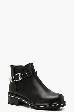 Buckle Detail Chelsea Boots