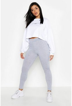 Womens Grey marl Cotton Elastane Leggings