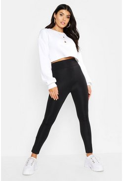 Womens Black Waist Shaping Leggings