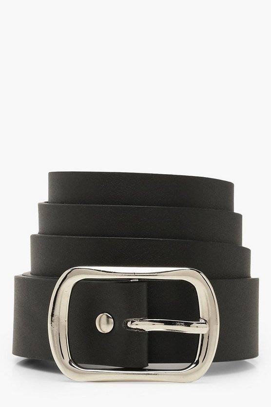Silver Buckle Boyfriend Belt