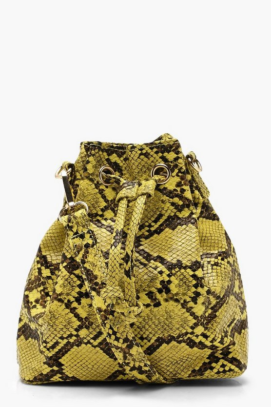 Faux Python Duffle Cross Body