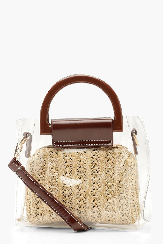 Straw Insert Perspex Bag