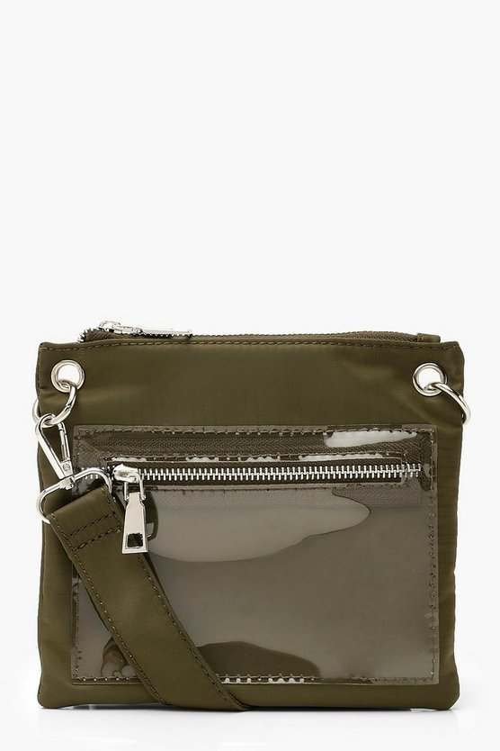 Perspex Pockets Utility Pouch Bag